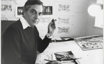 Ken Adam, Anfang der 1970er-Jahre © Deutsche Kinemathek – Ken Adam Archiv