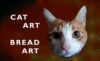 cat-art-bread-art-copyright-Maike-de-Rose-Berlin-isst-Eis. Sometimes the internet is like a lost and found box. Always good for a smile: Cat art and bread art - Without bread of course.
